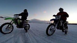 Сахалин 2016. Зимний мотокросс - на шипах.