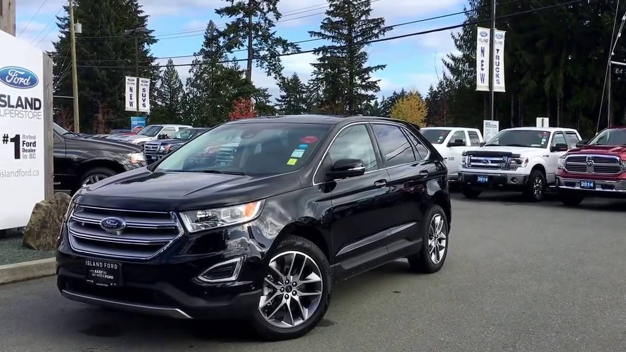 2016 ford edge titanium v6 enhanced park assist review island ford youtube. Black Bedroom Furniture Sets. Home Design Ideas