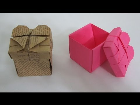 TUTORIAL - How to make an Origami Heart Box - YouTube - photo#26