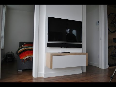 popular floating tv cabinet ideas for your living room - youtube