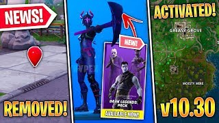 Dark Legends Pack OUT NOW, Moisty & Greasy RETURN, Fortnite X IT Balloons, v10.30! (Fortnite News)