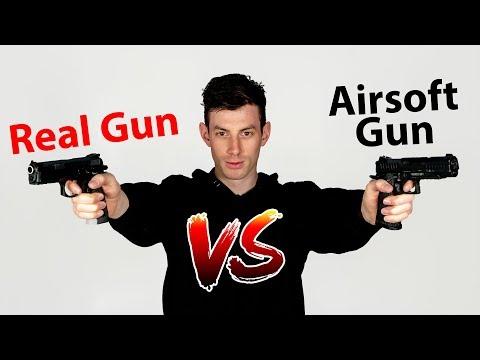 Real Gun vs. Airsoft Gun - SSP1