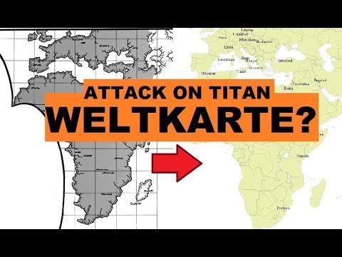 attack on titan karte KARTE der WELT von ATTACK ON TITAN! [SPOILER]   YouTube
