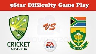 Australia vs South Africa 5 star difficulty gameplay - EA Cricket 17
