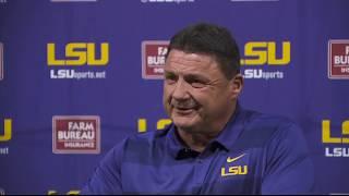 LSU Coach Ed Orgeron: 'You gotta win this game'