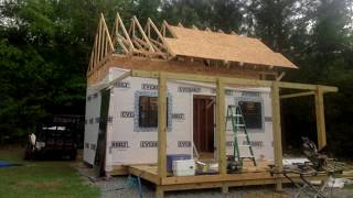 How to build Forest Cabin. Building 12x20 Hunting Cabin With Loft