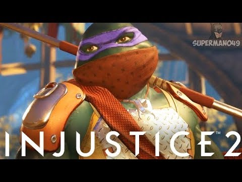 Injustice 2: Ninja Turtles Gameplay Epic Gear, Super Move &