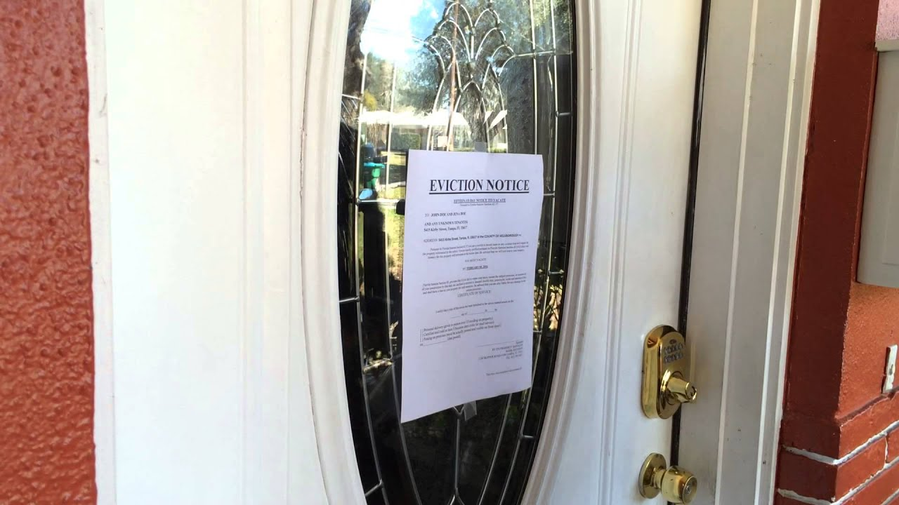 EVICTION NOTICE ON THE DOOR & EVICTION NOTICE ON THE DOOR - YouTube