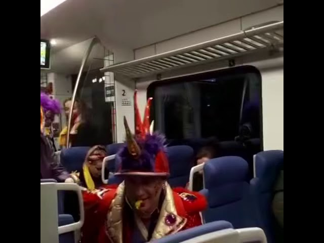 Dale Cana at the train