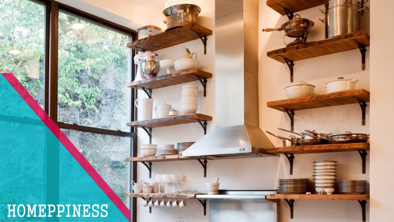 Creative Kitchen Designs must watch | 25+ creative kitchen shelves ideas for small kitchen