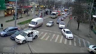 ДТП на ул. Игнатова и ул. Трудовой славы 12.03.2019