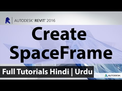 How To Create Space Frame Like A Proffessional In Autodesk Revit