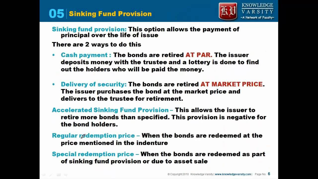 accelerated sinking fund