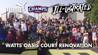 Basketball court renovation - Watts Oasis LA - Puma/Champs Sports | Illustrated