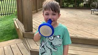 Zack playing with New Funny toys for kids
