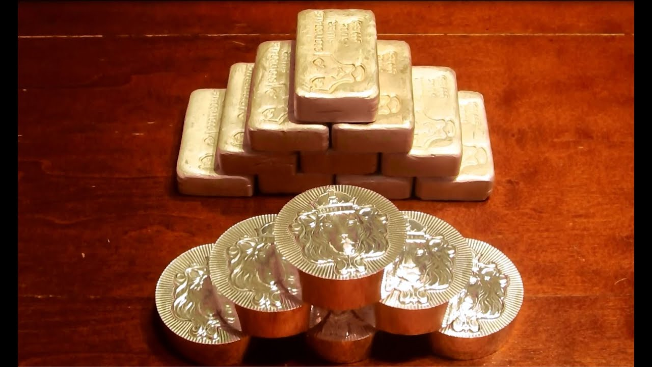 Scottsdale Poured Silver Bars And 5 Oz Stacker Rounds