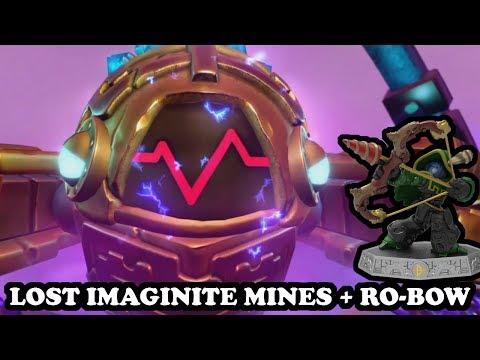 Skylanders Imaginators - Lost Imaginite Mines Level + RO-BOW GAMEPLAY - Wave 5
