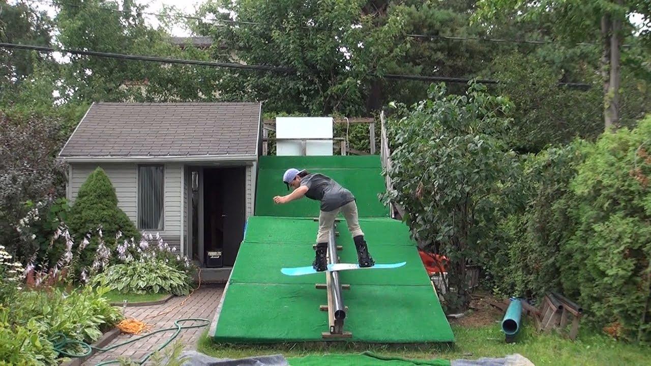 Backyard Snowboard Ramp sidehouse snowboard - youtube gaming