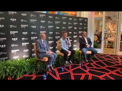 Robbie Williams - press conference Las Vegas 05 03 2019