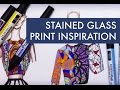 STAINED GLASS PRINT INSPIRATION P.1 | Fashion Drawing