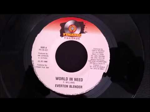 Everton Blender - World In Need - Finatic Records 7