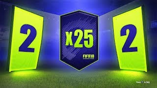 25 x 2 PLAYER PACKS! INSANE WALKOUT! - FIFA 18 Ultimate Team