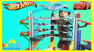 BIGGEST HOT WHEELS ULTIMATE GARAGE PLAYSET Shark Attack Disney Cars Toys McQueen kids Toys Review