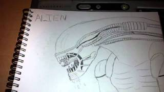 xenomorph drawing alien