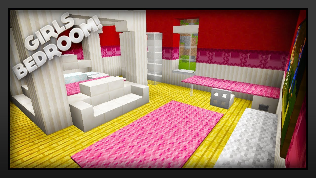 Minecraft - How To Make A Girls Bedroom - YouTube