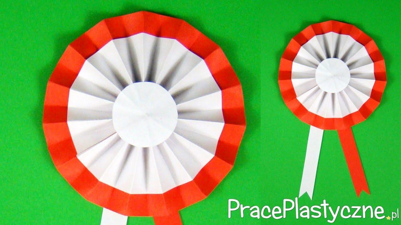Jak zrobić kotylion z bibuły w narodowym, biało-czerwonym kolorze ...