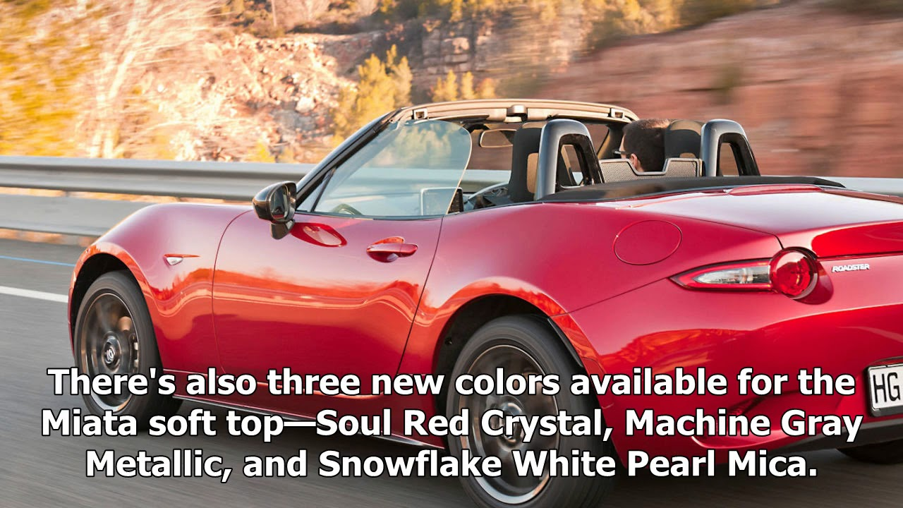 The 2018 Mazda Mx 5 Miata Is Getting Optional Recaros And A Red Soft Top |  Sport News 2018