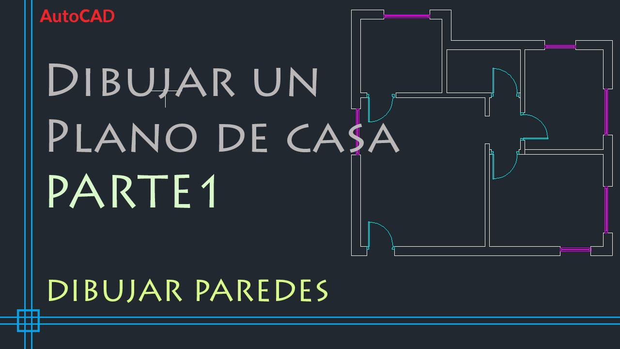 Autocad 2d tutorial para dibujar un plano de casa parte for Como crear un plano de una casa