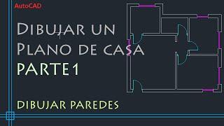 AutoCAD 2D - Tutorial para dibujar un plano de casa (PARTE 1)