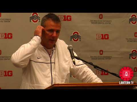 Ohio State HC Urban Meyer speaks after his team's 52-14 win over Illinois