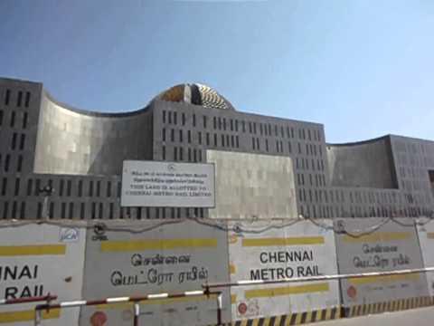 Chennai New  Government Building Anna Road