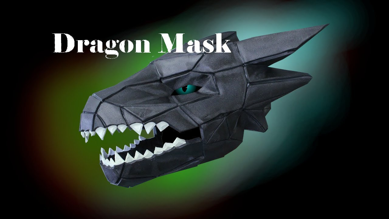 Eva Foam Dragon Mask Wintercroft How To Youtube