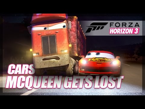 Forza Horizon 3 - McQueen Gets Lost Recreation! (Our Attempt + Bloopers)