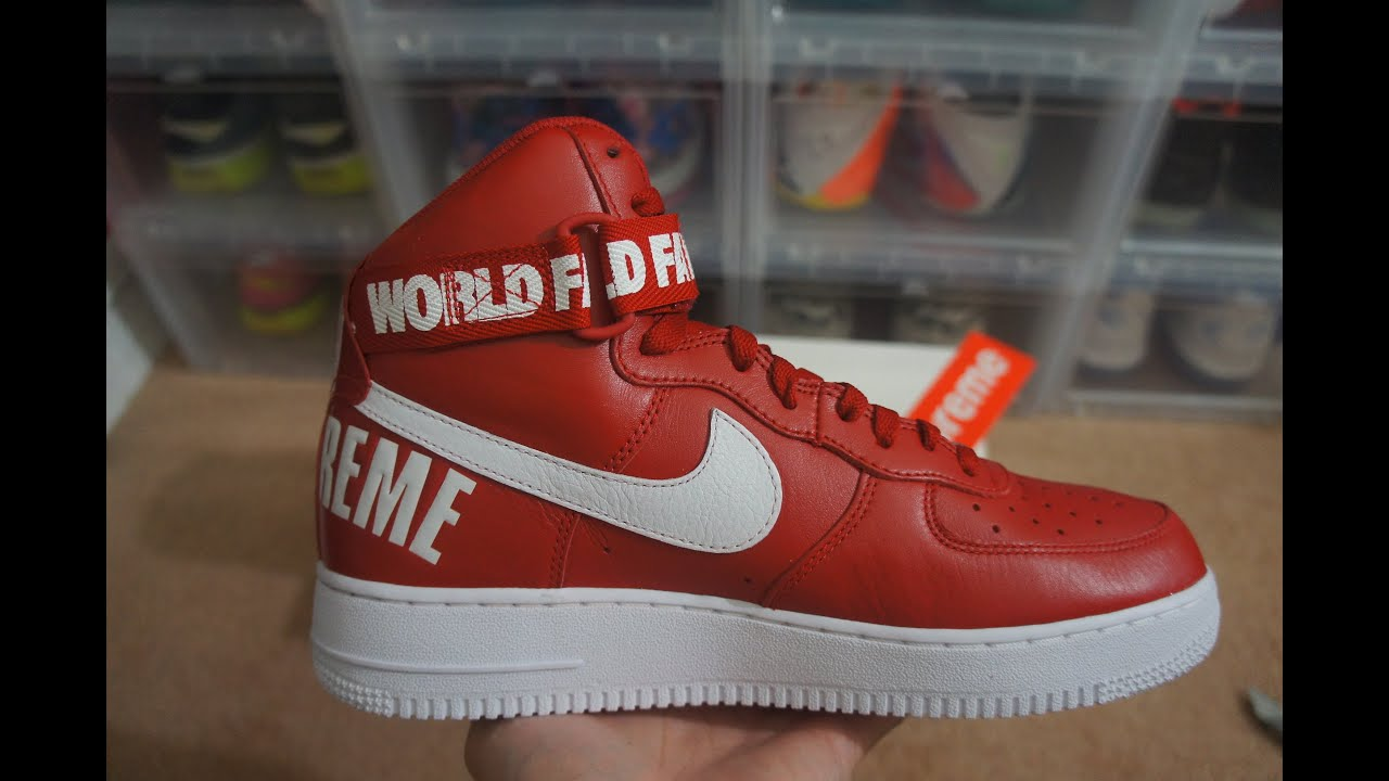supreme air force 1 red