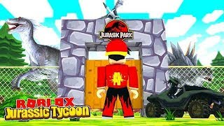 ROBLOX - THE NEW JURASSIC WORLD TYCOON!!
