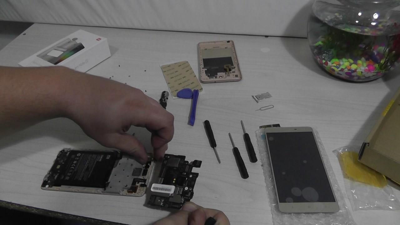 Разбор и замена дисплея на Xiaomi Redmi 3 - YouTube