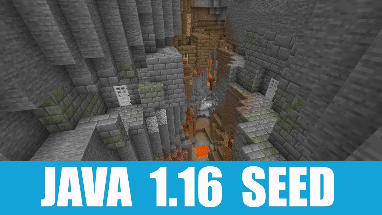Minecraft Java 1 16 Seed Easily Accessible Exposed Stronghold In The Ravine Youtube