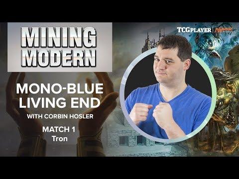 MTG Mining Modern  MonoBlue Living End  Match 1 VS Tron