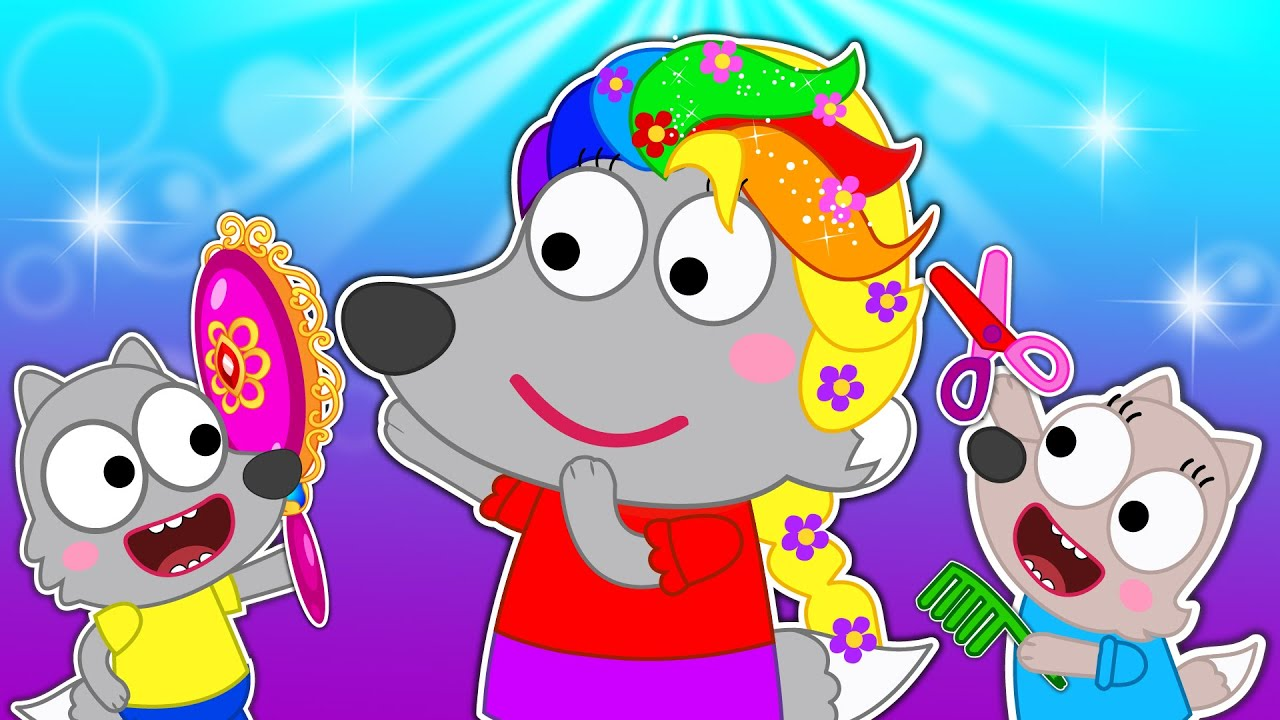 Download Mommy Pretend Play Hair Styling Beauty Toy Salon - Kids Stories About Pica Family  Wolf Pica Family
