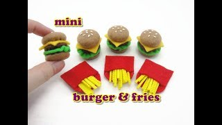 DIY Doll Accessories Mini Burger and Fries - Easy