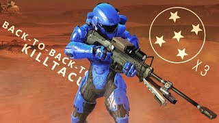 Halo 5 - Back-to-Back-to-Back Killtaculars // Snipers on Rig