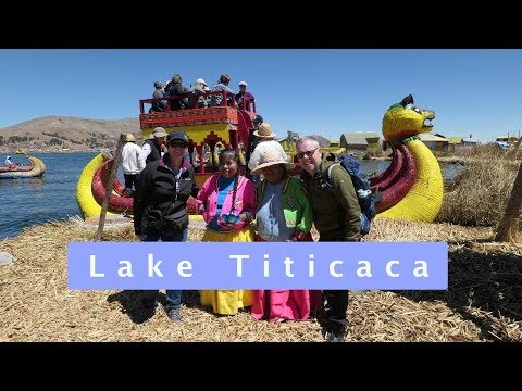 Living on Lake Titicaca Peru
