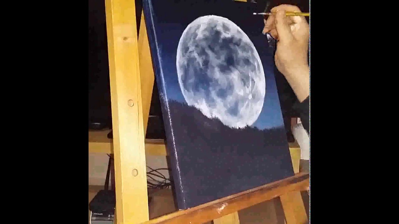 Moon Painting Acrylic - MVlC