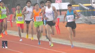 MEN'S  1500m. RUN FINAL. ALL INDIA INTER UNIVERSITY ATHLETICS CHAMPIONSHIPS-2014-2015Track and Field