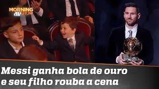 Reação de filho de Messi na Bola de Ouro é o gol de placa do dia