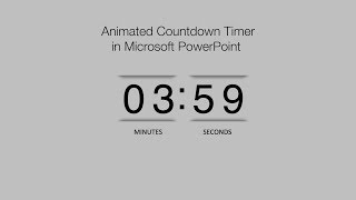 How to Create a Animated PowerPoint Countdown Timer